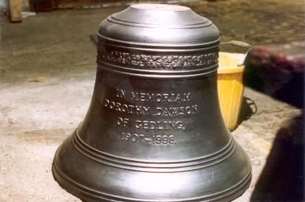 The treble bell at Lenton, Nottinghamshire, given by the author